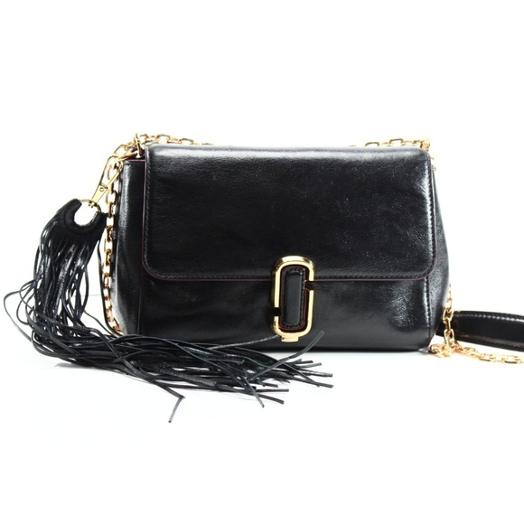 5c833f08df0d Black Leather Tassel J Chain Pushlock Shoulder Bag.  M 5ad12c4c2ab8c5871a599ae3. Other Bags you may like. Authentic Marc Jacobs  ...